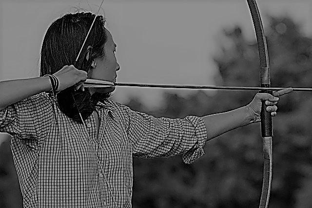 Bogenschütze symbolisiert: Fokussiere nur auf 1 Ziel auf einmal.